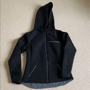LOU & GREY Black FORM zip-up jacket